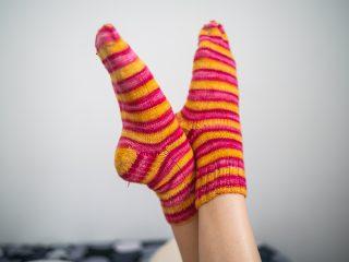 Stagiaire op sokken
